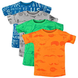 Luke and Lilly Boy s Cotton Animal Print Regular Fit T-Shirt