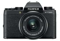 Fujifilm X-T100 24.2 MP Mirrorless Camera with XC 15-45 mm Lens (APS-C Sensor, Electronic Viewfinder, Face/Eye Detection, 3\
