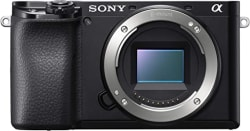 Sony Alpha ILCE 6100 24.2 MP Mirrorless Camera Body only (APS-C Sensor, Fast Auto Focus, Real-time Eye AF, Real-time Tracking, 4K Vlogging Camera, Tiltable LCD)