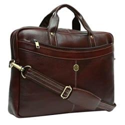 Hammonds Flycatcher 15.6 inch Genuine Leather Latest Design Office Messenger Laptop Organizer Bag (Brown)