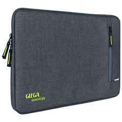 GIZGA essentials Laptop Bag Sleeve for 15 Inch-15.6 inch Laptop Case Cover Pouch MacBook Pro (Grey)