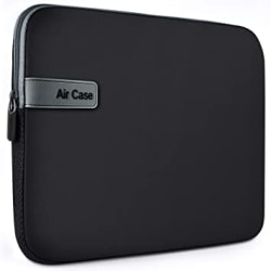 AirCase Laptop Bag Sleeve Case Cover for 13-Inch, 13.3-Inch Laptop MacBook, Neoprene (Black)