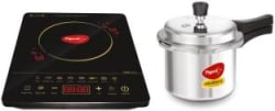 Pigeon Acer Plus Induction Cooktop with IB 3 Ltr Pressure Cooker 2020 Combo Black, Touch Panel
