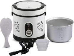 BMS Lifestyle ilo Travel Multi-Function 600ml,_White Electric Rice Cooker with Steaming Feature 600, White
