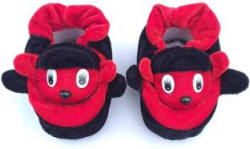 LMN Child Care Booties Toe to Heel Length - 5 cm, Red, Black
