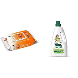 Savlon Germ Protection Wet Wipes (72 Wipes) and ITC s Nimwash Vegetable & Fruit Wash (1000 ml )