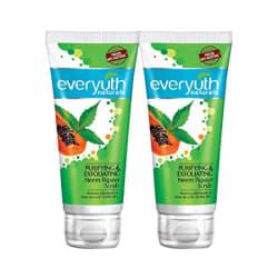 Everyuth Naturals Purifying & Exfoliating Neem Papaya Scrub, Pack of 2 (100gm x 2), Tube