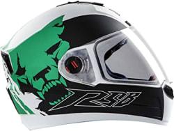 Steelbird SBA-1 Beast Glossy White and Green with Plain visor,600mm