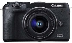Canon M6 Mark II Mirrorless Camera with 15-45 lens(Black)