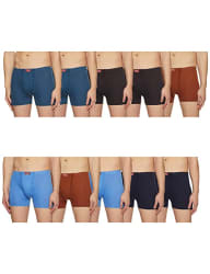 RUPA JON Men s Cotton Trunks (Pack of 10) (Colors May Vary)