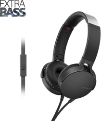 Sony MDR-XB550AP Wired Headset Black, On the Ear