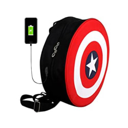 STEEZE Polyester Casual Backpack Bag with USB Port for Unisex (Red & Black, 20L) (Avenger Bag with USB)