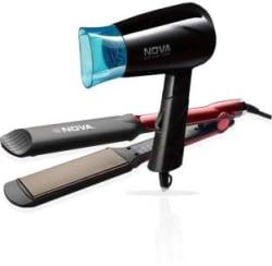 Nova Freshers pack NHS 870 + NHP 8100/05 Personal Care Appliance Combo Hair Straightener, Hair Dryer
