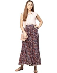 Jaipur Kurti Synthetic Full Skirt
