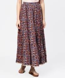 Jaipur Kurti Printed Women Flared Multicolor Skirt