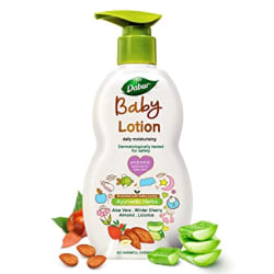 Dabur Baby Lotion: daily moisturising lotion enriched with baby loving ayurvedic herbs- 500ml