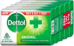 Dettol Original Soap, Buy 4 Get 1 Free (75 gm each) 5 x 75 g