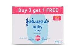 Johnson s Baby Soap For Bath Combo Offer Pack, 150g (Buy 3 Get 1 Free)