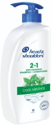 Head & Shoulders Cool Menthol 2-in-1 Shampoo Plus Conditioner Men & Women 650 ml