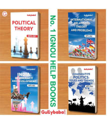 GullyBaba (Latest Edition 2019) IGNOU MA Political Science MPS-1 MPS-2 MPS-3 MPS-4 (English Medium) First Year COMBO of IGNOU Help Books with Solved Previous Years Question Papers Important Exam Notes