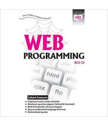 IGNOU BCA (Latest Edition) BCS-53 Web Programming In English Medium, IGNOU Help Books with Important Exam Notes