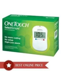 OneTouch Select Simple Glucometer With Free 10 Strips
