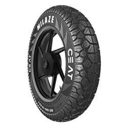 Ceat Milaze 90/100-10 53J Tube-Type Scooter Tyre,Front or Rear (Home Delivery)