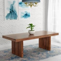 Kendalwood Furniture Solid Wood 8 Seater Dining Table(Finish Color - Walnut Finish)