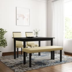 Flipkart Perfect Homes Arranmore Solid Wood 4 Seater Dining Set Finish Color - Walnut