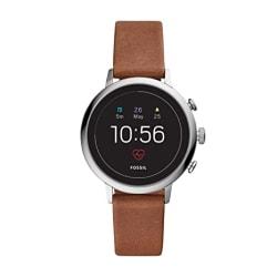 Fossil Women s Gen 4 Venture HR Heart Rate Stainless Steel Touchscreen Smartwatch, Color: Silver (Model: FTW6014)