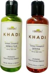 Srotam KHADI HERBAL HEENA & TULSI AND SATRITHA SHAMPOO 210 M Men & Women 420 ml