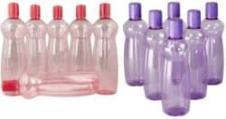 Milton Pacific Red and Purple Plastic Fridge Water Bottle Set of 12 1000 ml Bottle Pack of 12, Purple, Red, Plastic