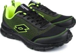 Lotto Splash Black/ Lime Running Shoes For Men 7 Running Shoes For Men Black
