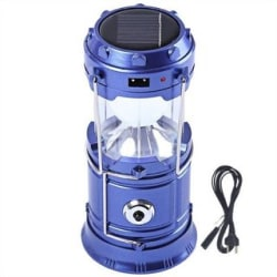 Alpha 6 Led Portable Metal Polished Rechargable Emergency Light Lamp Tent Lantern Solar Charging