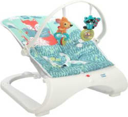 MeeMee Easy To Bounce & Vibrating Deluxe Baby Bouncer Bouncer Blue