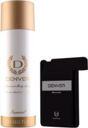 Denver Imperial Deo & Black Code Pocket Perfume Combo Deodorant Spray - For Men 218 ml, Pack of 2