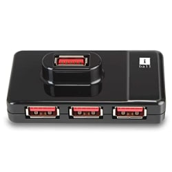 iBall Piano 430 USB 3.0 Super-Fast 4 Port Hub (Black)