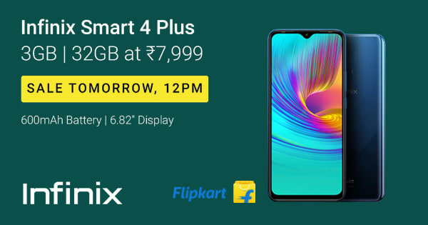 Infinix Smart 4 | From Rs. 7,999 | Sale On Tuesday, 12PM on Flipkart