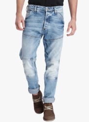 Blue Washed Low Rise Slim Fit Jeans