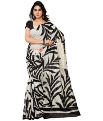 Saree Mall White Art Silk Saree