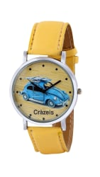 Crazeis Analog Yellow Color Dial Watch