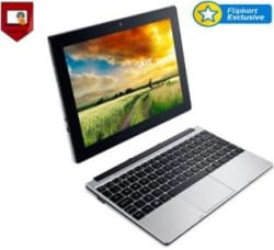 Acer One 10 Atom Quad Core 5th Gen - (2 GB/32 GB EMMC Storage/Windows 10 Home) S1001-19p0 2 in 1 Laptop(10.1 inch, SIlver, 1.2 kg)