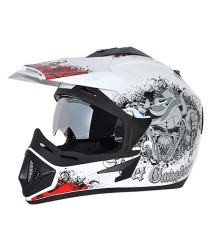 Vega Gangster White and Red Helmet (Medium)