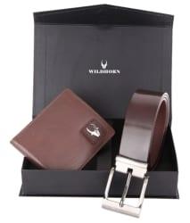 Wildhorn Brown Combo Gift Set Of Wallet And Belt