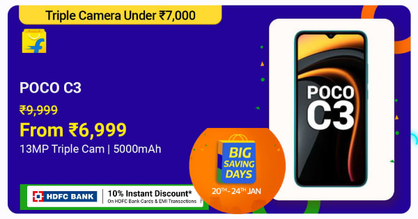 Poco C3 Series | From Rs. 6,999 | Shop Now.