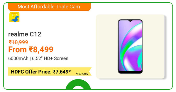 Realme C12 | From Rs. 8,499 | Shop Now.