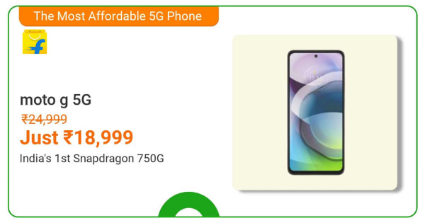 Motorola G 5G | From Rs. 18,999 | Shop Now.