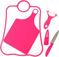 Chrome 3728-4Red Pink Kitchen Tool Set