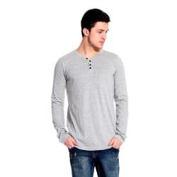 Lemon and Vodka Men s Cotton T-Shirt (LNV-L.SLV-HNLY-1PCK-CMB-10-M_Grey _Medium)