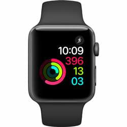 Apple Watch Series 2 42mm Space Grey Aluminium Case with Black Sport Band